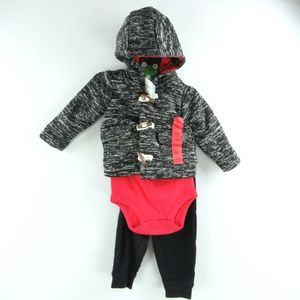 New Carter's 3 Piece Jacket Clothes Set